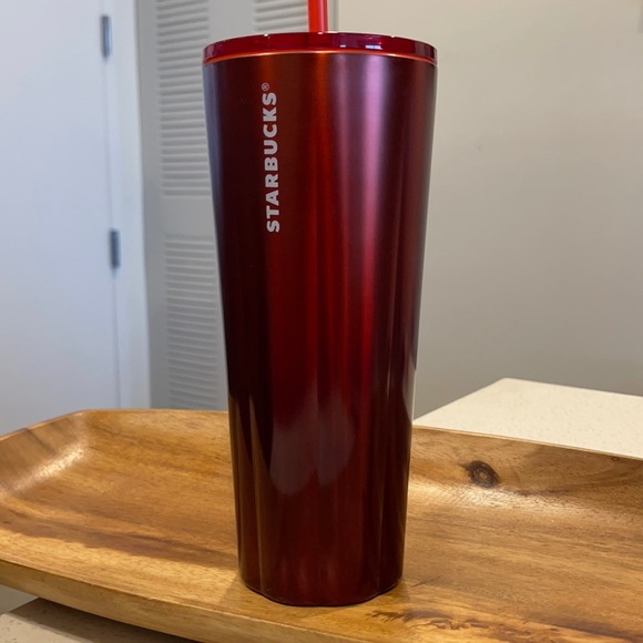 Starbucks Red Ombré Stainless Steel 24oz cup